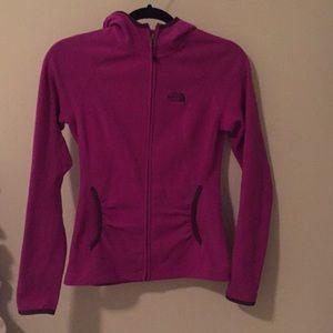 Women's Northface Purple fleece zip up jacket